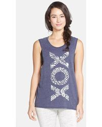 Betsey Johnson Performance 'Xox' Graphic Muscle Tank - Lyst