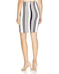 Lush - Striped Cross Over Pencil Skirt - Lyst