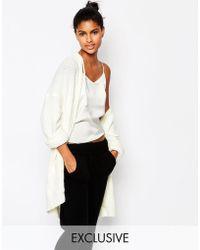 Micha Lounge Cozy Boucle Hooded Cardigan - White