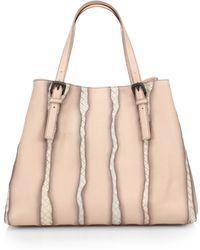 Bottega Veneta Intrecciato-Streaked Faded-Leather Tote - Lyst