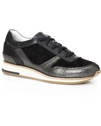 Lanvin | Paneled Leather Low-Top Runing Sneakers | Lyst