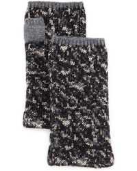 Rag & Bone Scarlett Melange-knit Fingerless Gloves - Gray