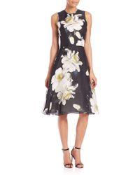 Carolina Herrera | Gardenia Gazaar Silk Cocktail Dress | Lyst