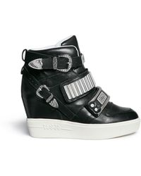 Ash 'Amazing' Leather Concealed Wedge Sneakers - Lyst