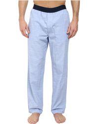 Calvin Klein Chambray Pants blue - Lyst