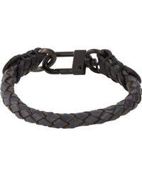 Caputo & Co. Braided Leather Bracelet - Lyst