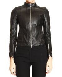 Patrizia Pepe Jacket Leather Biker - Lyst