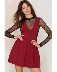 Nasty Gal | Teresa Plunging Mini Dress - Red | Lyst