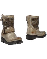 Ash Gold Ankle Boots - Lyst