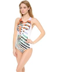 Clover Canyon Ribbon Landscape One Piece Swimsuit - Lyst