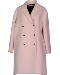 Les Prairies de Paris Coat pink - Lyst