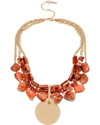 Kenneth Cole Mixed Shell Multi-Row Necklace - Lyst