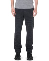 Missoni Striped Knitted Jogging Bottoms Grey - Lyst