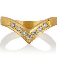 Kevia Gold-tone Crystal Ring - Lyst