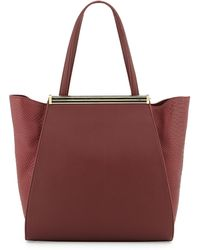 Ivanka Trump Hexagonal Python-Embossed Tote Bag - Lyst