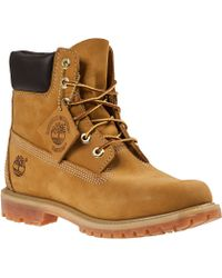 Timberland Classic Lace-Up Boot Wheat Leather - Lyst