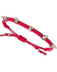 Tai Cz Stud Woven Bracelet - Lyst