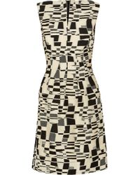Lela Rose Cotton-blend Jacquard Dress - Lyst