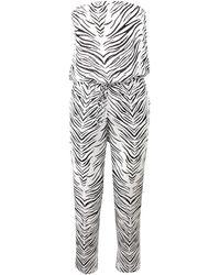 Haute Hippie Strapless Zebra Print Onesie - Lyst