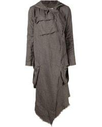 Greg Lauren Oversized Draped Coat - Lyst