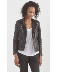 Zadig & Voltaire Luxy Rea Leather Jacket - Lyst