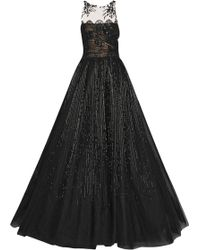 Valentino Embellished Lace Gown - Lyst
