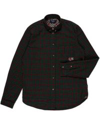 Paul Smith Green And Black Brushed-Cotton Check Shirt - Lyst