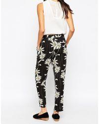 Harlyn - Daisy Print Drawstring Trousers - Lyst