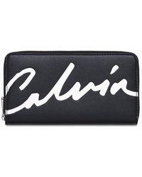 Calvin Klein Portemonnee Met Rits Rondom - Zwart