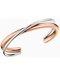 Calvin Klein Bracelet rigide ouvert - Double - Métallisé