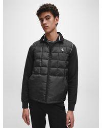 Calvin Klein Gevoerde Gilet Van Gerecycled Polyester - Zwart