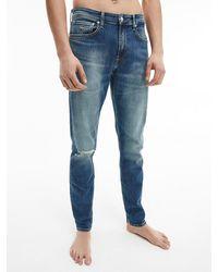 Calvin Klein Slim Tapered Jeans - Blau