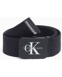 Calvin Klein K50K504466 ADJ.MONOGRAM femmes Ceinture en Noir