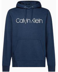 Calvin Klein Hoodie Van Biologisch Katoen Met Logo - Blauw