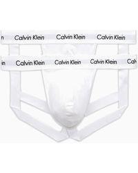 Calvin Klein Cotton Stretch - Lot de 2 jock-straps - Blanc