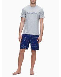 Calvin Klein Pyjama Met Korte Broek - Modern Cotton - Grijs