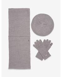 CALVIN KLEIN 205W39NYC - 3-piece Ribbed Knit Hat, Scarf + Gloves Set - Lyst