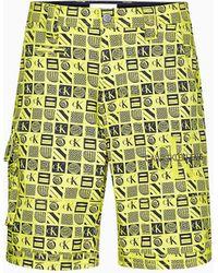 Calvin Klein Short cargo en serg lastique - Jaune
