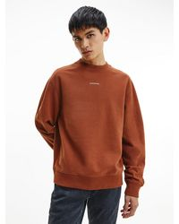 Calvin Klein Lssiges Sweatshirt aus Bio-Baumwolle - Braun