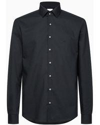 Calvin Klein Slim Poplin Stretch Shirt - Black