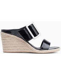 Calvin Klein - Leather Wedge Sandals - Lyst