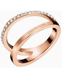 Calvin Klein Ring - Outline - Roze
