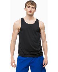 Calvin Klein Mesh Panel Tank Top - Black