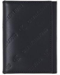 Calvin Klein Leren Pashouderportemonnee - Zwart