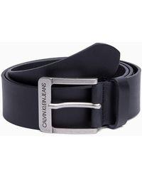Calvin Klein Leather Belt - Blue