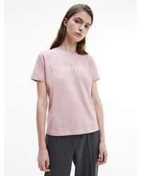 Calvin Klein - T-shirt Met Logo Van Biologisch Katoen - Lyst