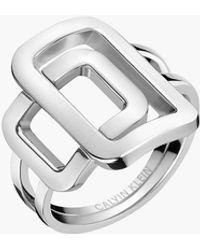 Calvin Klein Ring - Perky - Mettallic