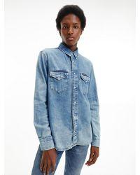 Calvin Klein Denim Overhemd - Blauw