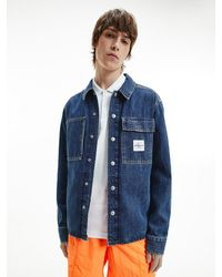 Calvin Klein Denim Shirtjack - Blauw