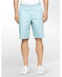 Calvin Klein Classic Fit Twill Walking Shorts - Blue
